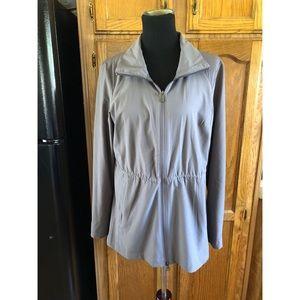 Columbia Grey Omni Wick Windbreaker Jacket Large